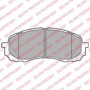 Колодки тормозные дисковые для SUBARU IMPREZA(G3,GH,GR) <b>DELPHI LP2128</b> - изображение