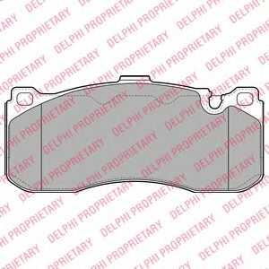 Колодки тормозные дисковые DELPHI LP2131 - изображение
