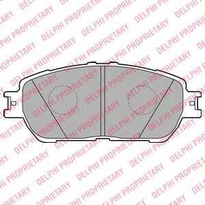 Колодки тормозные дисковые DELPHI LP2132 - изображение
