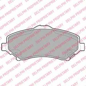 Колодки тормозные дисковые для CHRYSLER GRAND VOYAGER(RT) / JEEP WRANGLER(JK) <b>DELPHI LP2143</b> - изображение