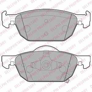 Колодки тормозные дисковые для HONDA ACCORD(CU), CIVIC(FB,FG,FK) <b>DELPHI LP2144</b> - изображение