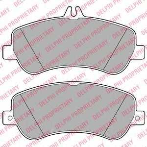 Колодки тормозные дисковые для MERCEDES GLK(X204) <b>DELPHI LP2146</b> - изображение