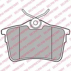 Колодки тормозные дисковые DELPHI LP2147 - изображение