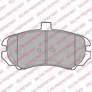 Колодки тормозные дисковые для HYUNDAI ELANTRA(XD) <b>DELPHI LP2150</b> - изображение