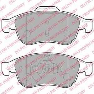 Колодки тормозные дисковые для FIAT 500X / JEEP RENEGADE / OPEL ASTRA / RENAULT CAPTUR, FLUENCE, GRAND, MEGANE, SCENIC <b>DELPHI LP2152</b> - изображение