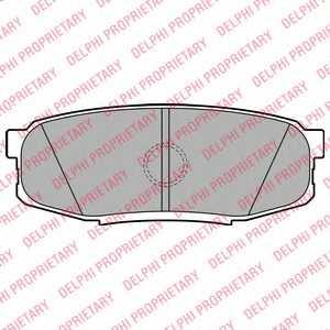 Колодки тормозные дисковые DELPHI LP2154 - изображение