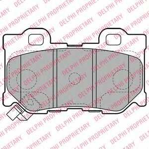 Колодки тормозные дисковые DELPHI LP2157 - изображение