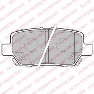 Колодки тормозные дисковые для HONDA LEGEND(KB#) <b>DELPHI LP2160</b> - изображение