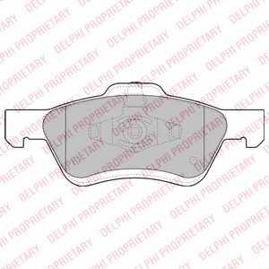 Колодки тормозные дисковые DELPHI LP2161 - изображение