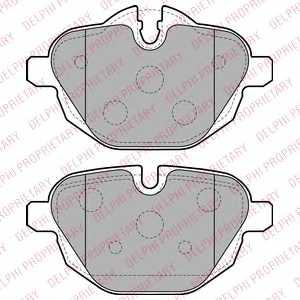 Колодки тормозные дисковые DELPHI LP2162 - изображение
