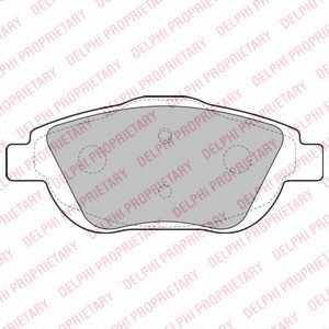 Колодки тормозные дисковые DELPHI LP2164 - изображение