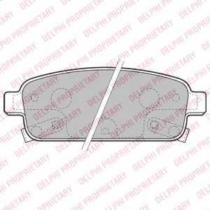 Колодки тормозные дисковые DELPHI LP2167 - изображение