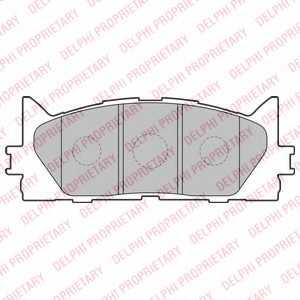 Колодки тормозные дисковые DELPHI LP2169 - изображение