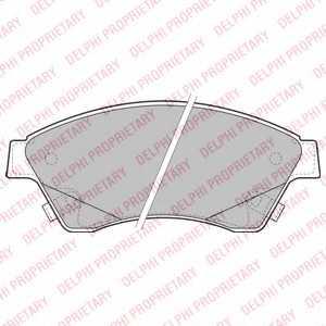 Колодки тормозные дисковые DELPHI LP2171 - изображение