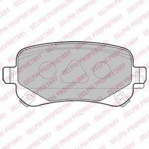 Колодки тормозные дисковые DELPHI LP2174 - изображение