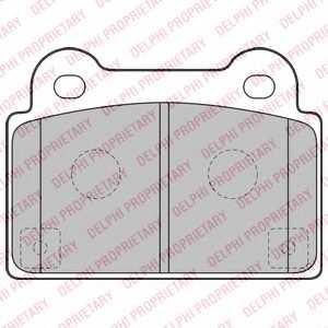 Колодки тормозные дисковые DELPHI LP2177 - изображение