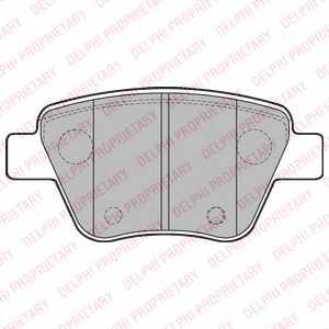 Колодки тормозные дисковые DELPHI LP2178 - изображение