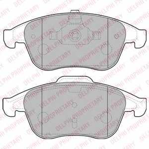 Колодки тормозные дисковые DELPHI LP2181 - изображение