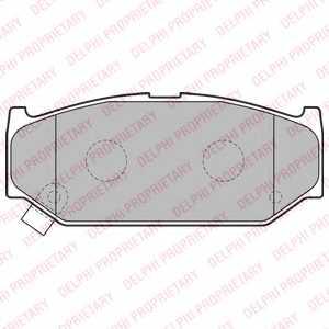 Колодки тормозные дисковые DELPHI LP2182 - изображение