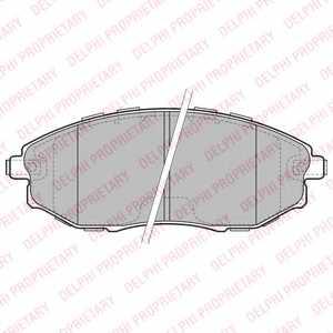 Колодки тормозные дисковые для CHEVROLET EPICA(KL1#) <b>DELPHI LP2183</b> - изображение