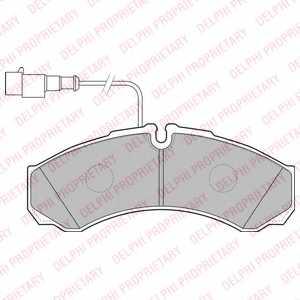 Колодки тормозные дисковые DELPHI LP2185 - изображение