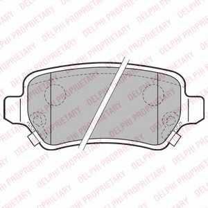 Колодки тормозные дисковые DELPHI LP2188 - изображение