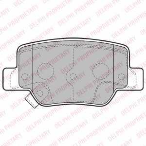Колодки тормозные дисковые DELPHI LP2193 - изображение