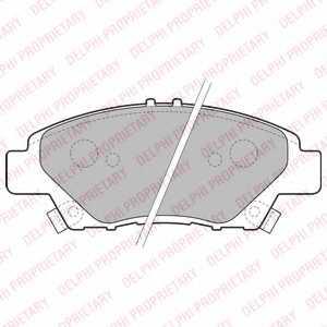 Колодки тормозные дисковые DELPHI LP2194 - изображение
