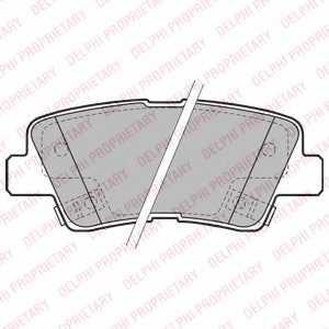 Колодки тормозные дисковые DELPHI LP2195 - изображение