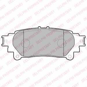 Колодки тормозные дисковые DELPHI LP2196 - изображение