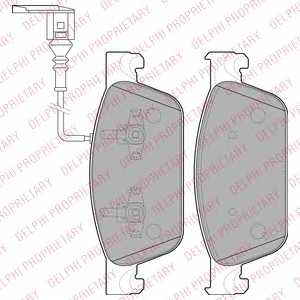Колодки тормозные дисковые DELPHI LP2199 - изображение