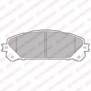 Колодки тормозные дисковые для LEXUS NX(AGZ1#,AYZ1#,ZGZ1#), RX(AGL1#,GGL1#,GYL1#) <b>DELPHI LP2201</b> - изображение