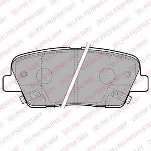 Колодки тормозные дисковые для HYUNDAI SANTA FE(CM) / KIA SORENTO(XM) <b>DELPHI LP2202</b> - изображение