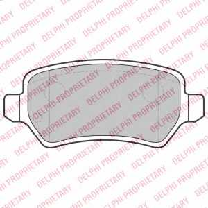 Колодки тормозные дисковые DELPHI LP2209 - изображение