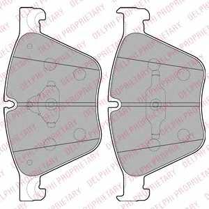 Колодки тормозные дисковые DELPHI LP2210 - изображение