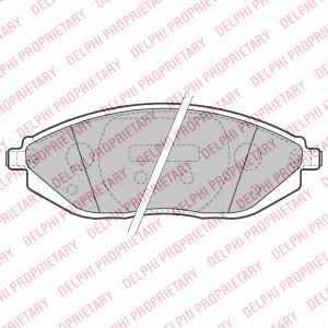 Колодки тормозные дисковые DELPHI LP2218 - изображение