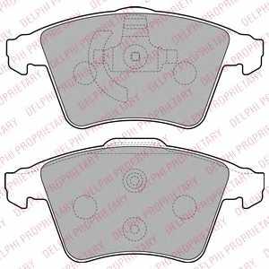 Колодки тормозные дисковые DELPHI LP2225 - изображение