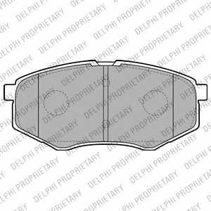 Колодки тормозные дисковые DELPHI LP2227 - изображение
