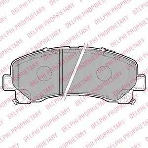 Колодки тормозные дисковые для ISUZU D-MAX(8DH) <b>DELPHI LP2229</b> - изображение