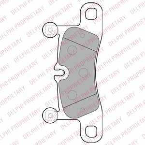 Колодки тормозные дисковые DELPHI LP2233 - изображение