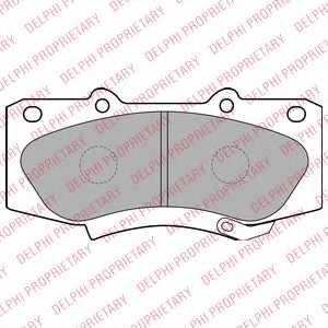 Колодки тормозные дисковые DELPHI LP2244 - изображение