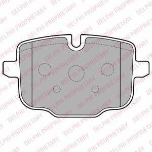 Колодки тормозные дисковые для AUDI A6(4G2,4GC,C7) / BMW 5(F10,F11,F18), 6(F12,F13) <b>DELPHI LP2246</b> - изображение