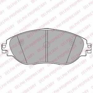 Колодки тормозные дисковые для AUDI A3(8V1) / SKODA OCTAVIA(5E3,5E5) / VW GOLF(5G1,BE1), SHARAN(7N1,7N2) <b>DELPHI LP2250</b> - изображение