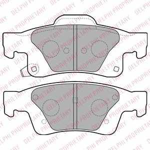 Колодки тормозные дисковые DELPHI LP2251 - изображение