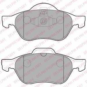 Колодки тормозные дисковые DELPHI LP2252 - изображение