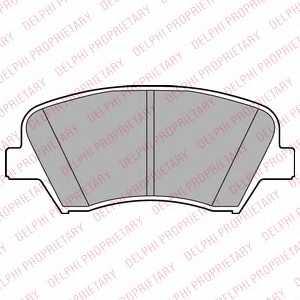 Колодки тормозные дисковые DELPHI LP2293 - изображение