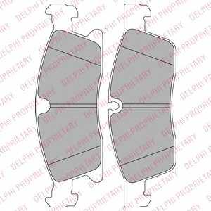 Колодки тормозные дисковые DELPHI LP2298 - изображение