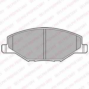 Колодки тормозные дисковые для SKODA FABIA / VW POLO(6C,6R) <b>DELPHI LP2444</b> - изображение