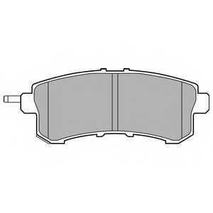 Колодки тормозные дисковые DELPHI LP2447 - изображение