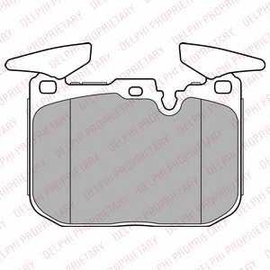 Колодки тормозные дисковые для BMW 3(F30,F35,F80), 4(F32,F82) <b>DELPHI LP2449</b> - изображение